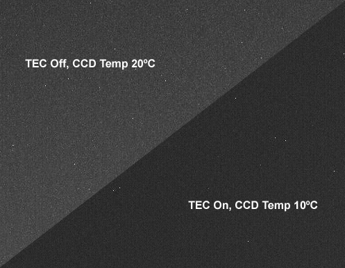 TEC on/off Dark Frame Comparison