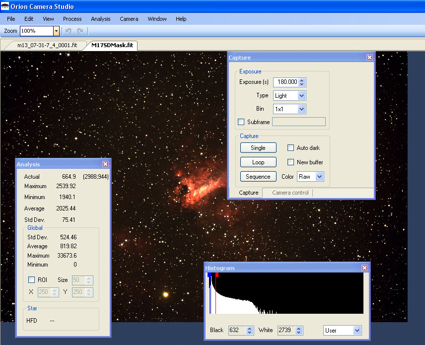 Orion Camera Studio Software for StarShoot G3