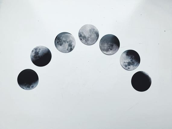 Moon Phase Stickers 15 unique stickers