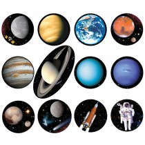 Astrovisuals Planets Fridge Magnets – set of 12