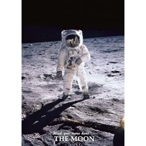 Astrovisuals Postcard Man on the Moon
