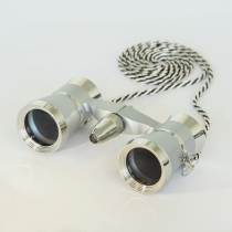 saxon 3x25 Opera Glasses with Light (Silver)