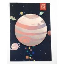 Cute planet sticky notes - Jupiter
