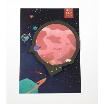 Cute planet sticky notes - Mars