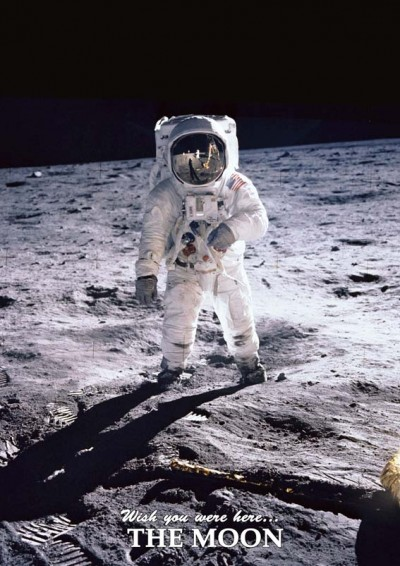 Astrovisuals Postcard Man on the Moon