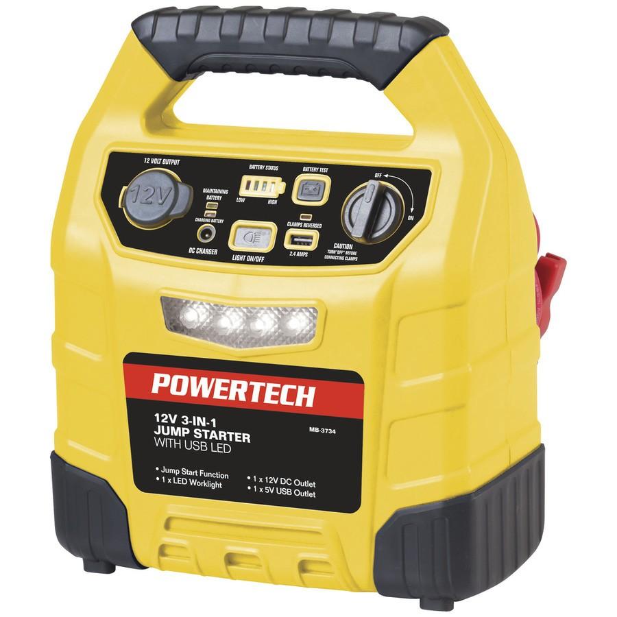 Powertech 12V 12Ah Jump Starter with 2.4A USB and LED light