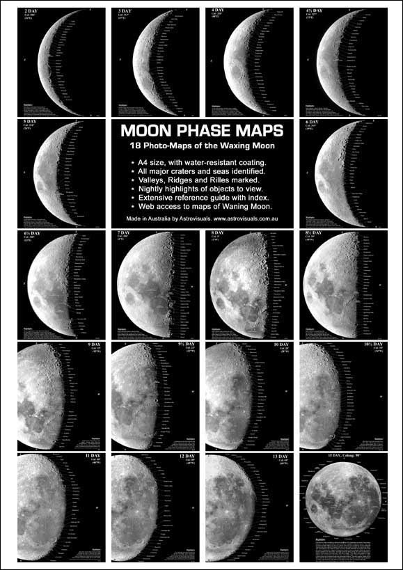 Astrovisuals Moon Phase Maps