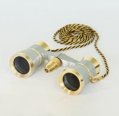 saxon 3x25 Opera Glasses with Light (Gold)