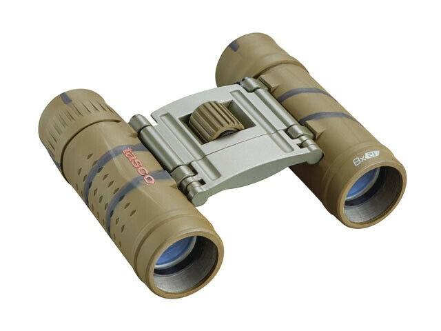 Tasco Essentials 8x21 Roof Prism Brown Camo Binoculars