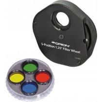 Orion Multiple 5 Filter Wheel And Basic Color Filter Set