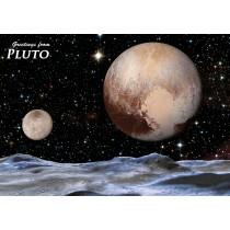 Astrovisuals Postcard - Pluto