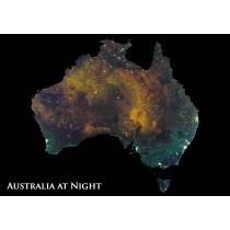 Astrovisuals Australia at Night Postcard