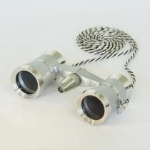saxon 3x25 Opera Glasses with Light (Silver)