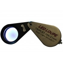 saxon 10x Jeweller Magnifier with LED and UV Light (21mm)