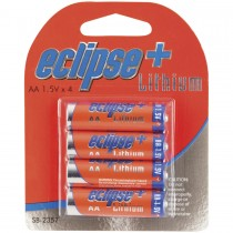 Four Pack 1.5V Eclipse AA Lithium Batteries