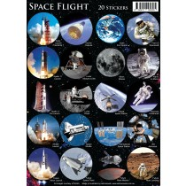Astrovisuals Space Flight Set of 20 Stickers